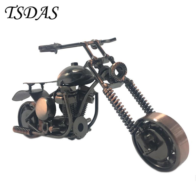cocuklar icin el yapimi bronz colormetal motosiklet model oyuncaklar yil hediyesi motosiklet modu masasi aksesuarlari yeni