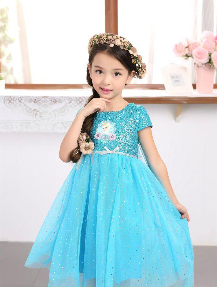 kar kralicesi elsa elza bebek kiz cocuk icin elbise kostum prenses anna elbise cocuk elbiseleri cadilar bayrami noel elbise cosplay