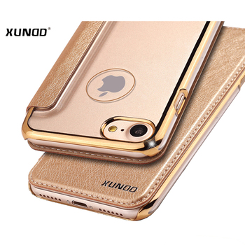 Kart Yuvası ile 8 iphone için iphone 7 8 Xundd Lüks PU Deri + Net PC Case plus 4.7